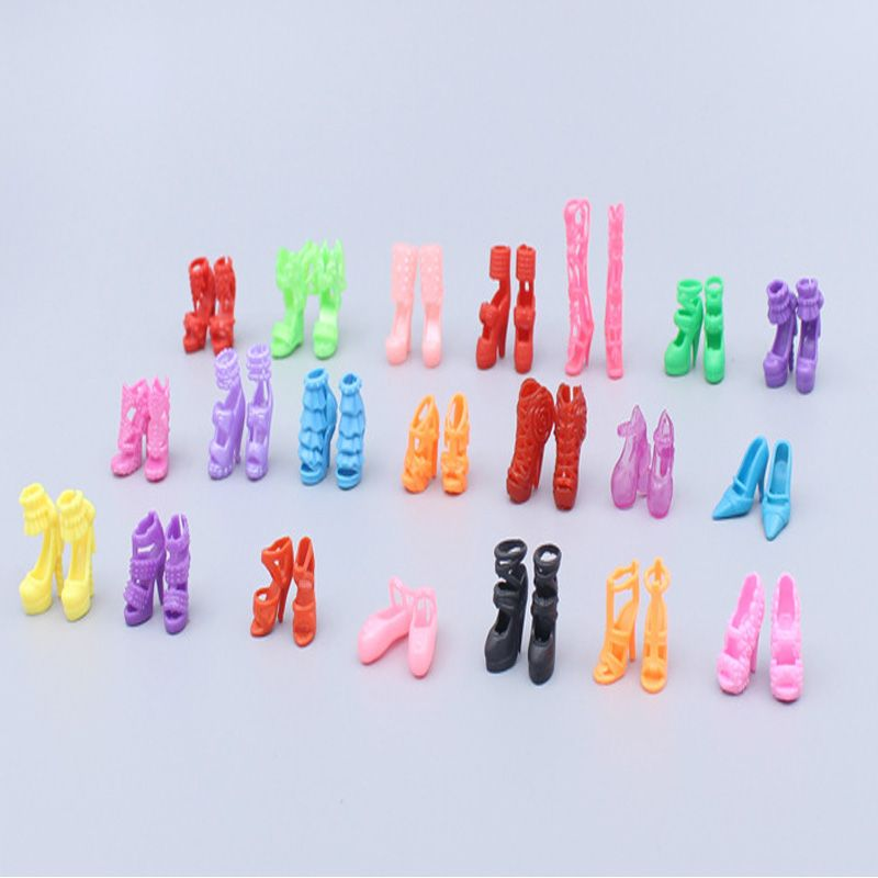 20Pairs Doll Lovely Shoes Heels Sandals Model for Dolls Kids Toys