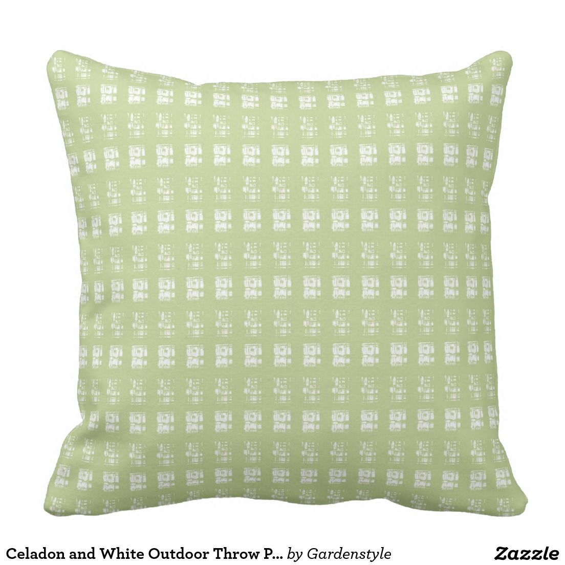 Celadon And White Outdoor Throw Pillow Outdoor Fabric Pillows And