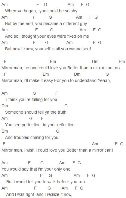 Ella Henderson Mirror Man Chords Capo 2 Piano Pinterest Ella