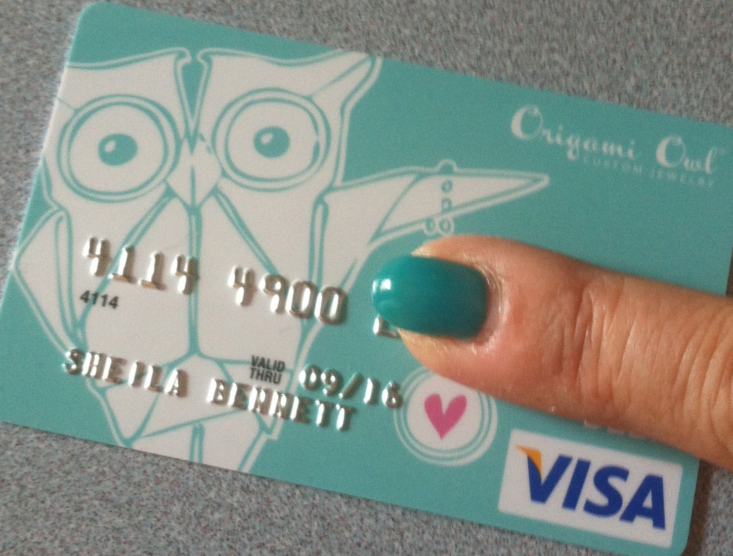 Received my Origami Owl branded Visa card in the mail. Isn\'t it ...