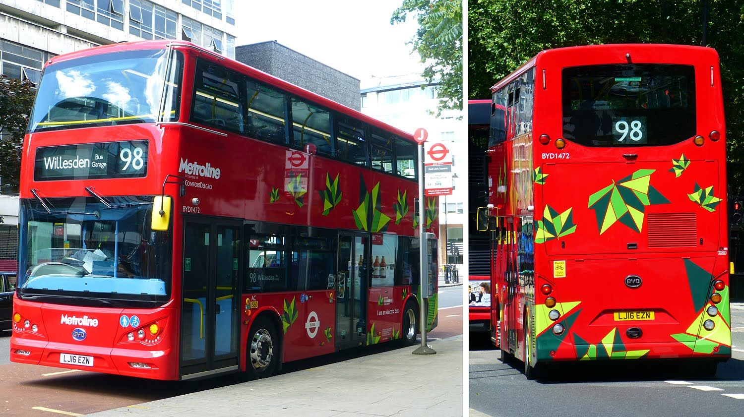 Byd Double Deck Battery Electric Bus In London Double Deck London Bus Bus