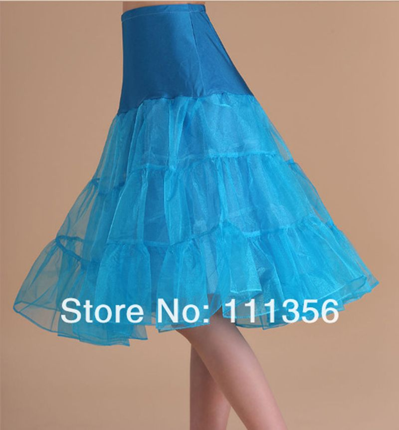 Click to Buy << New Blue Tulle Skirt Wedding Petticoat Bridal ...