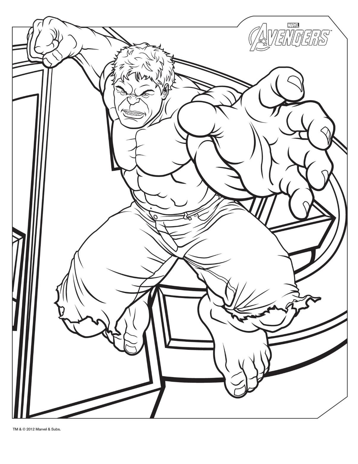 Free Printable Hulk Coloring Pages For Kids | Incredible hulk, Kids ...
