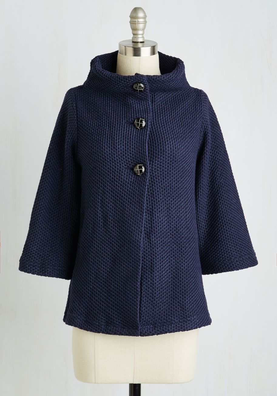 a242a1e7c29 Corner Coffee Shop Cardigan in Navy - Mid-length