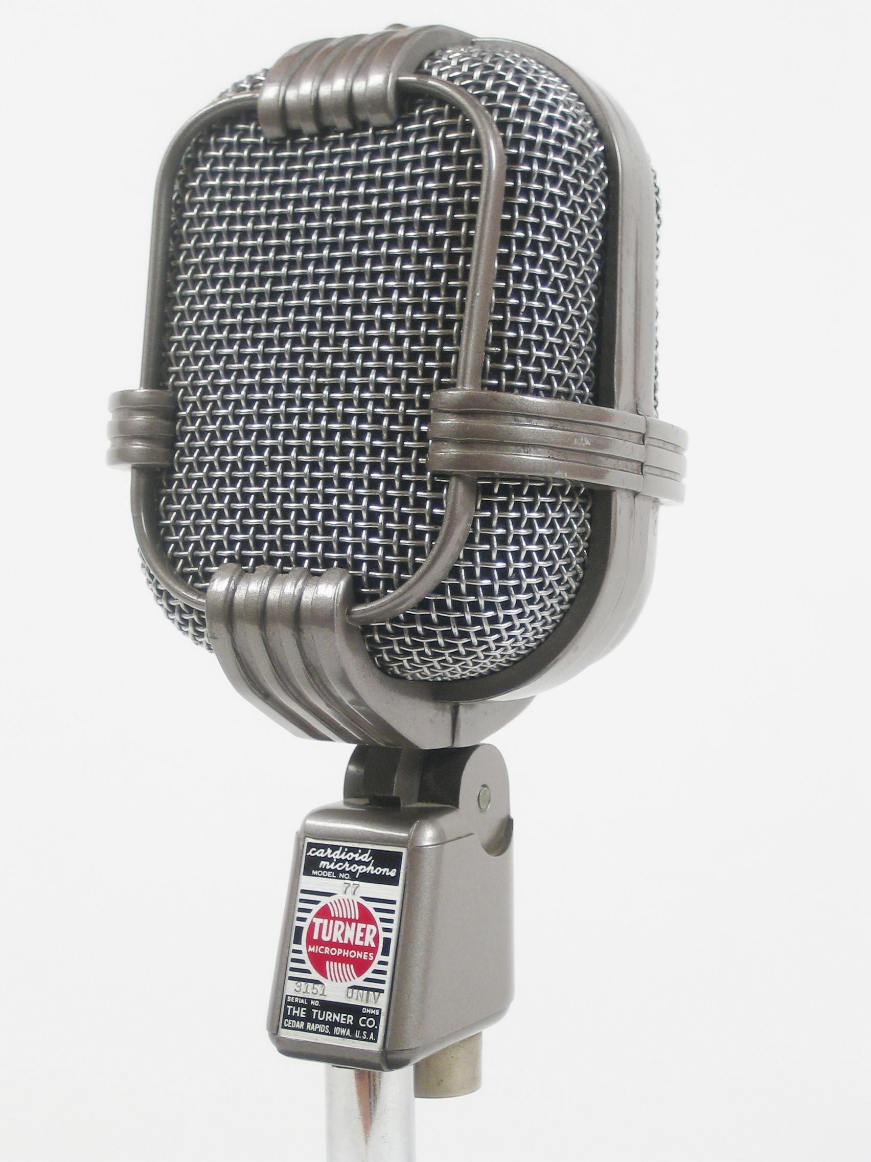 Turner Model 77 Microphone Music Microphone Studio Old