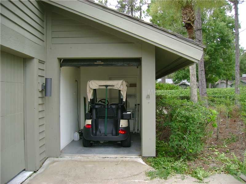 Golf Cart Garage With Shed Roof Outdoor Living Space
