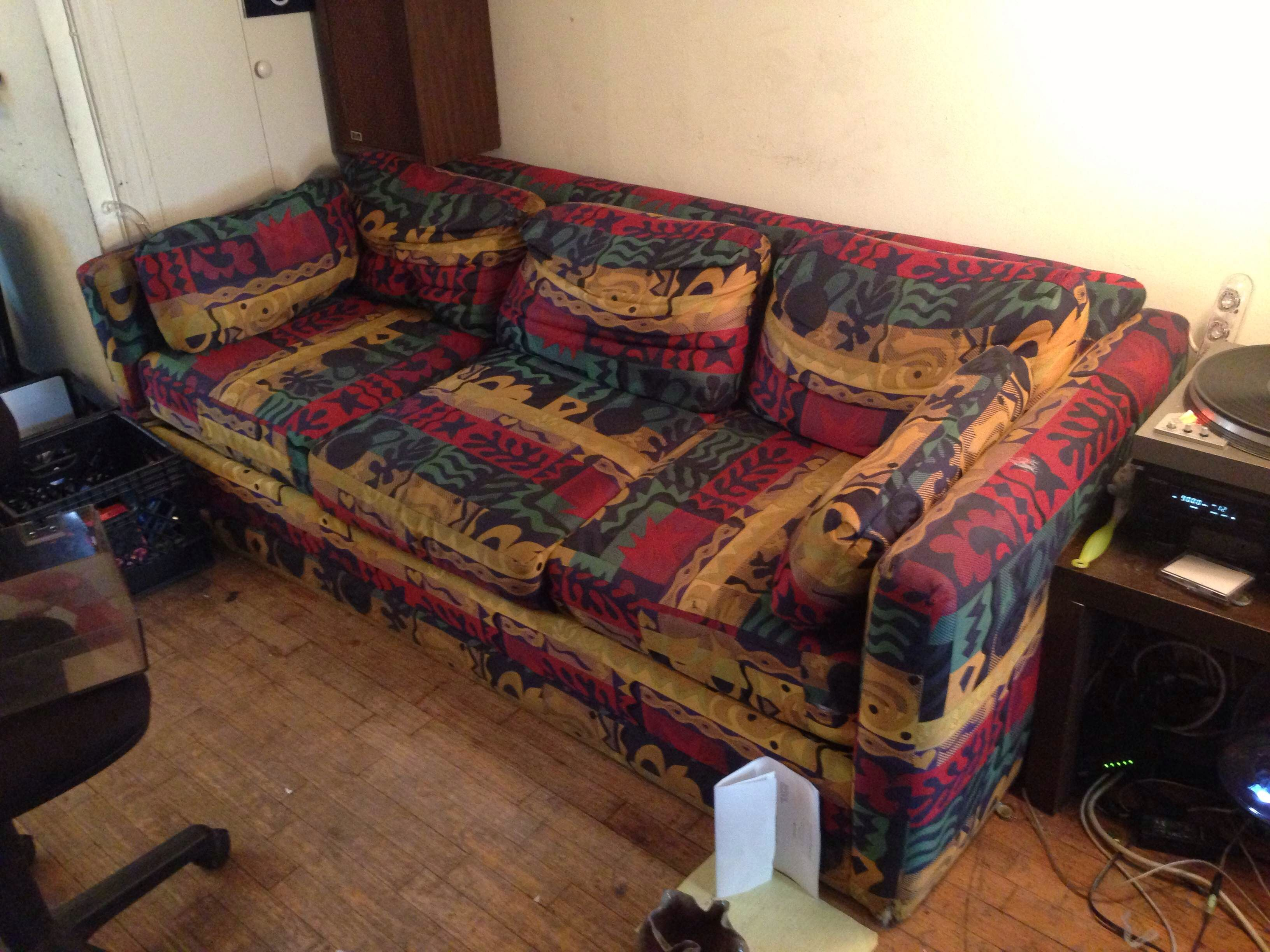 Rasta couch | Multi colored (Rasta) Couch | Pinterest