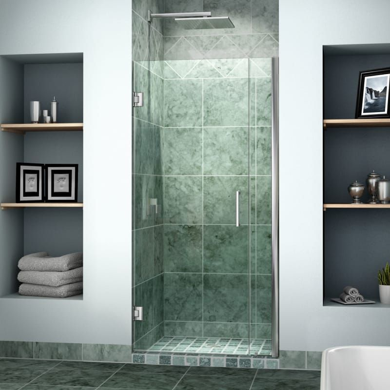 Unidoor 36 30 Inch Shower Door With 6 Stationary Panel