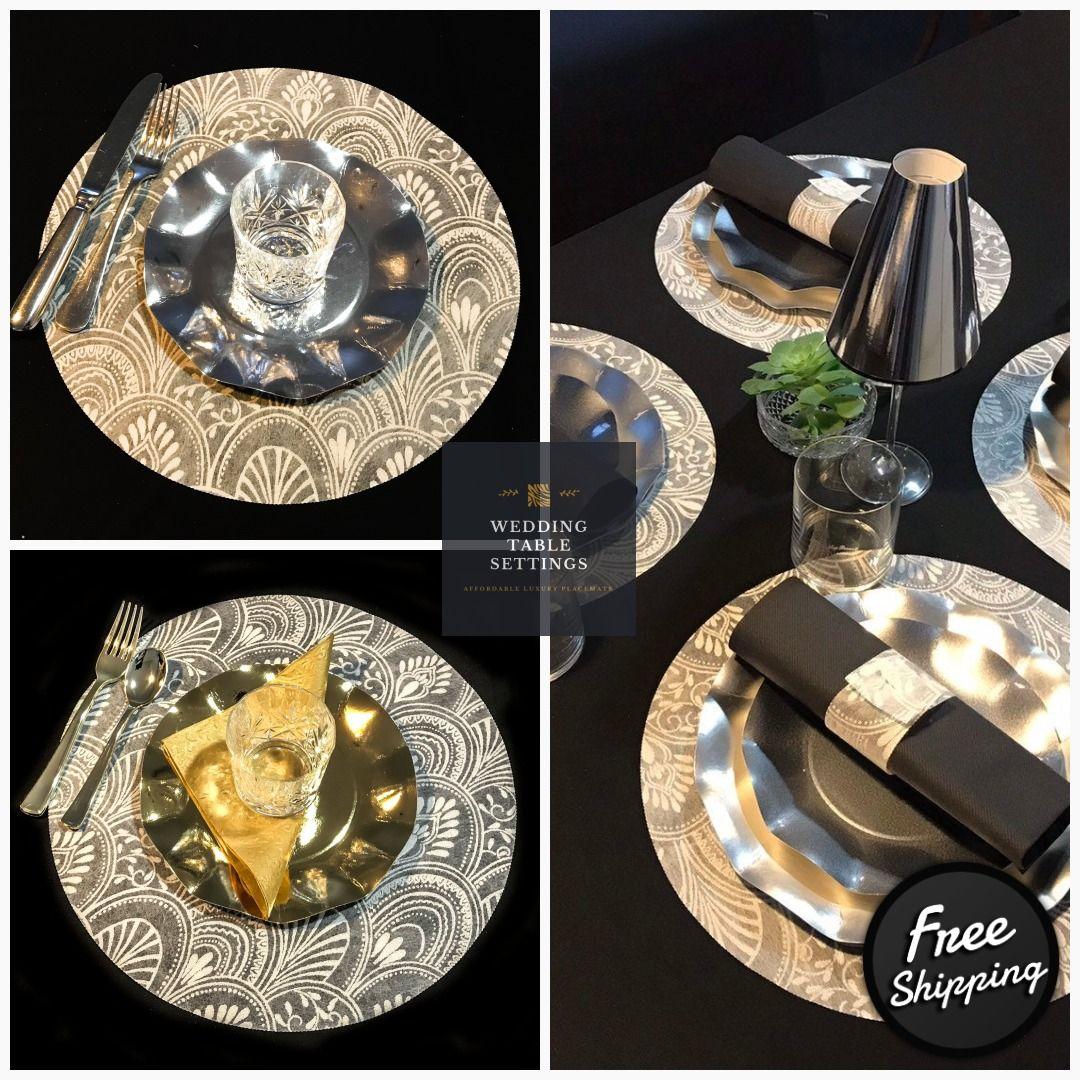 Wedding Charger Plates Wedding Placematsround White Etsy Wedding Placemats White Placemats Charger Plates Wedding