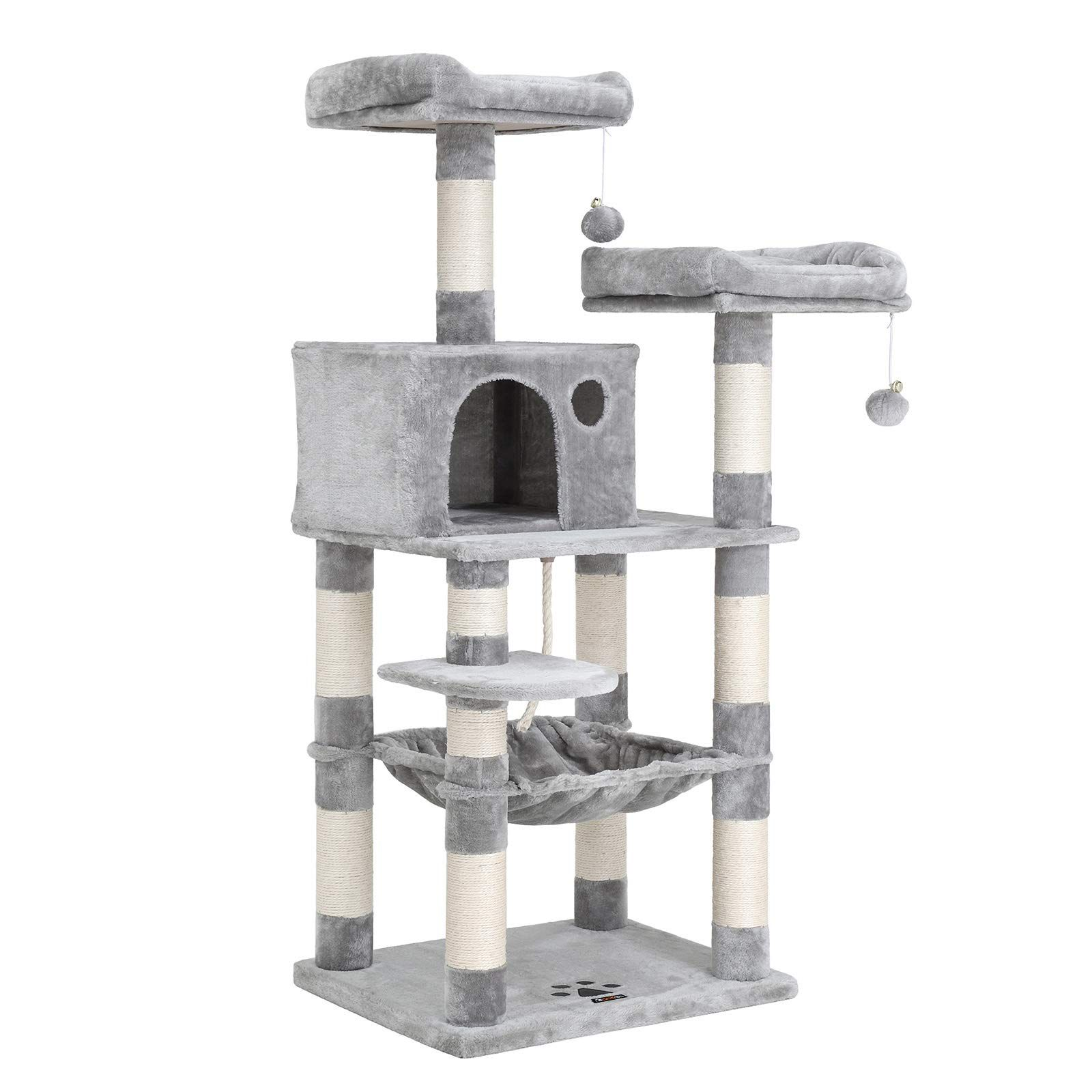 FEANDREA 56.3 inches MultiLevel Cat Tree with Sisal