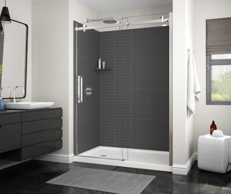 Utile Shower Wall Panels Install Tiles In Your Shower In Just One Day Shower Wall Panels Shower Remodel Tub To Shower Remodel