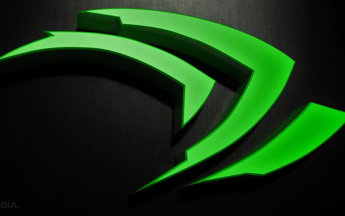 Download wallpapers 4k, 3d logo, Nvidia, 4K, creative