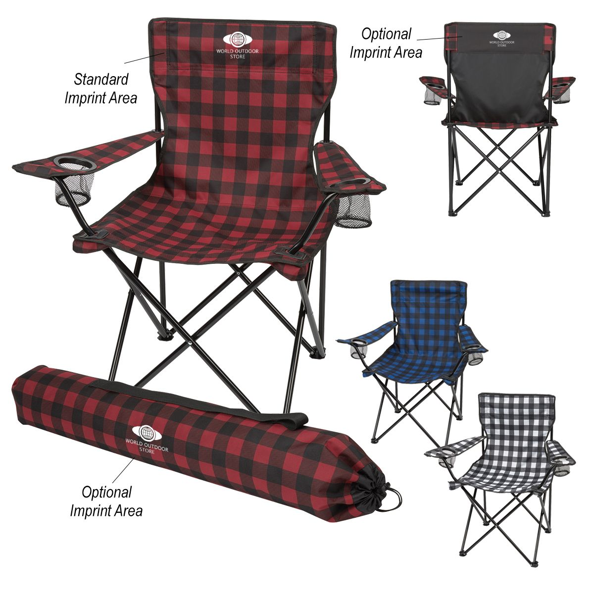 7051 Northwoods Folding Chair With Carrying Bag Hit