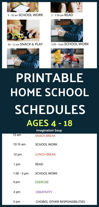 Photo of Printable Home School Schedules for Kids in PreK – High School