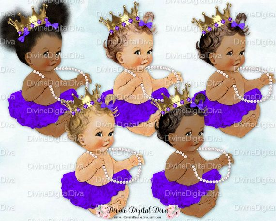 dbeb2bb3a488c Ballerina Princess Baby   Pearls Violet Purple Tutu Gold Crown ...