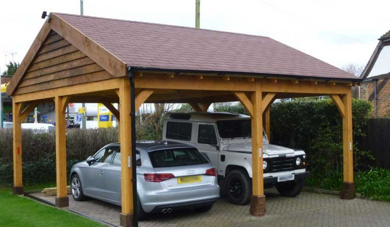 Details about Softwood Timber Framed Open sided Single Bay