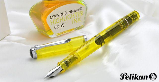 Pelikan Special Edition Souveran M205 Duo Set Yellow Fountain Pen