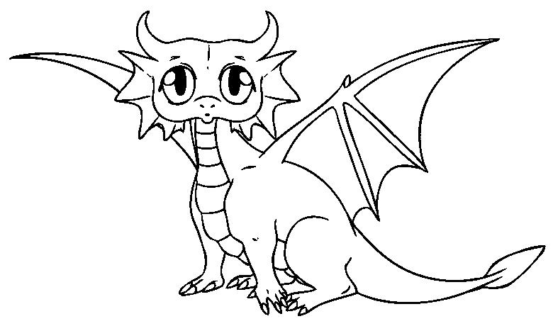 Art Line Drawing Dragon Head Easy Dragon Drawings Cartoon