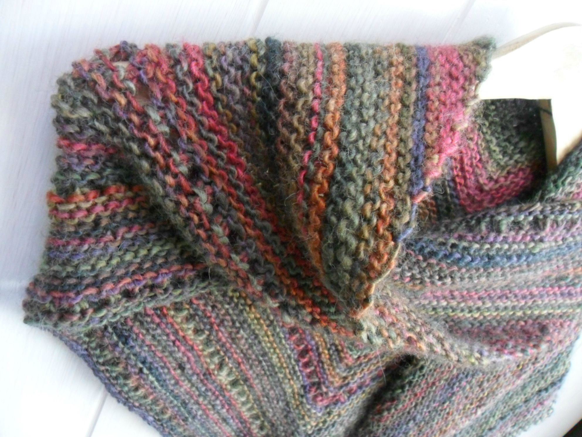 Tricoter un chale facile tricot knitting pinterest - Tricoter un plaid facile ...