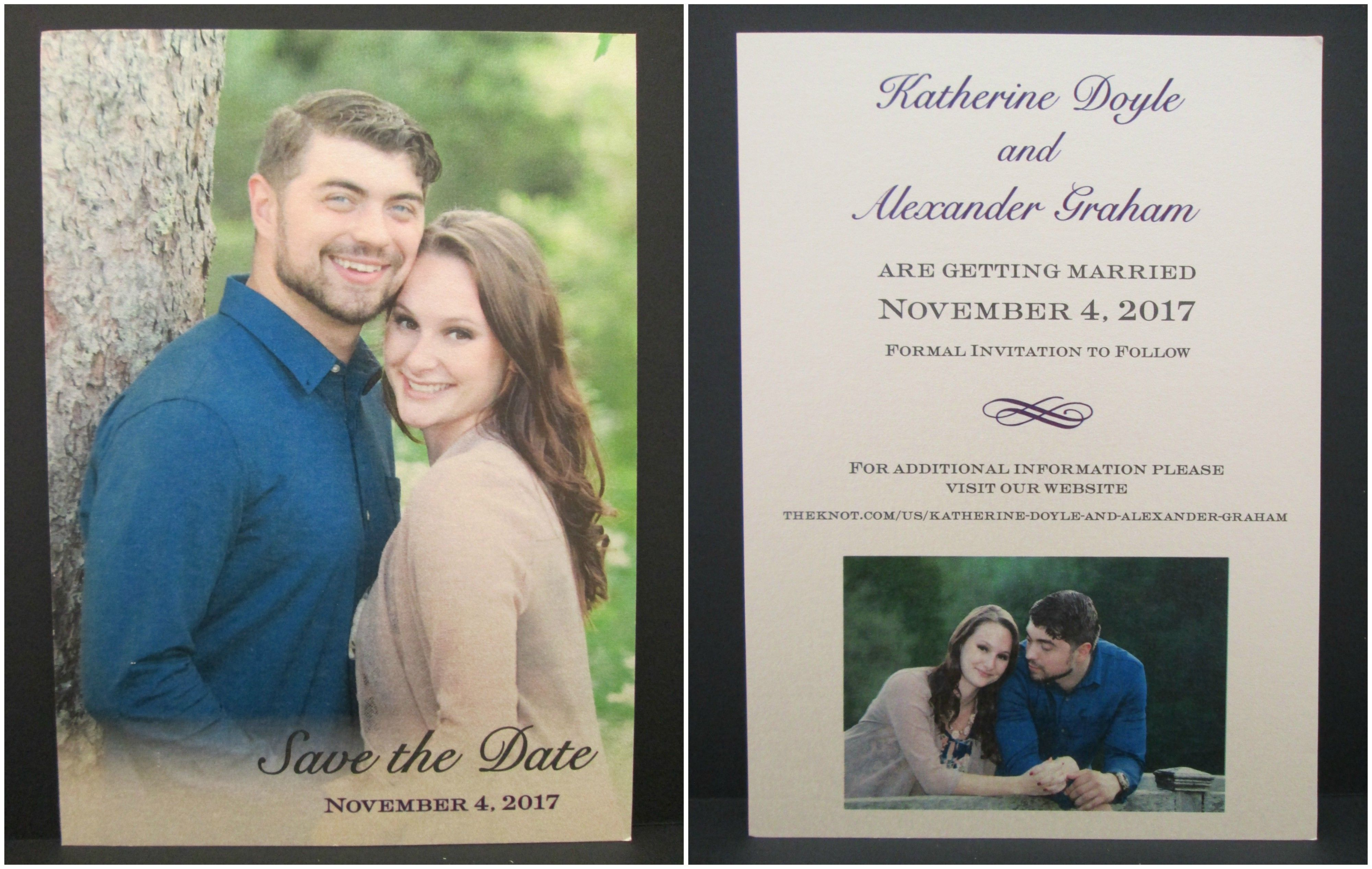 2 Sided Save The Date Card