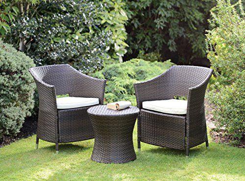Rattan Effect Armchair Outdoor Garden Furniture Boston Set (Brown) Price  Β£99.9 - Rattan Effect Armchair Outdoor Garden Furniture Boston Set (Brown