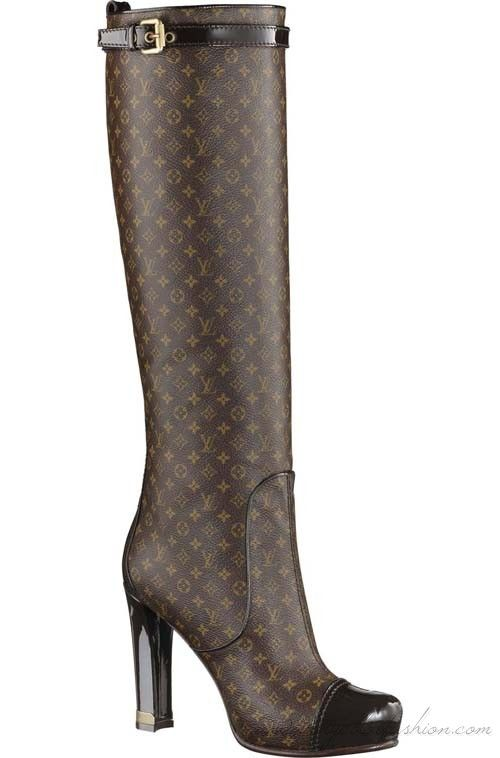 2e6abb0ccf8 Louis Vuitton Judy low boot in Monogram Idylle These stylish peep-toe low  boots in