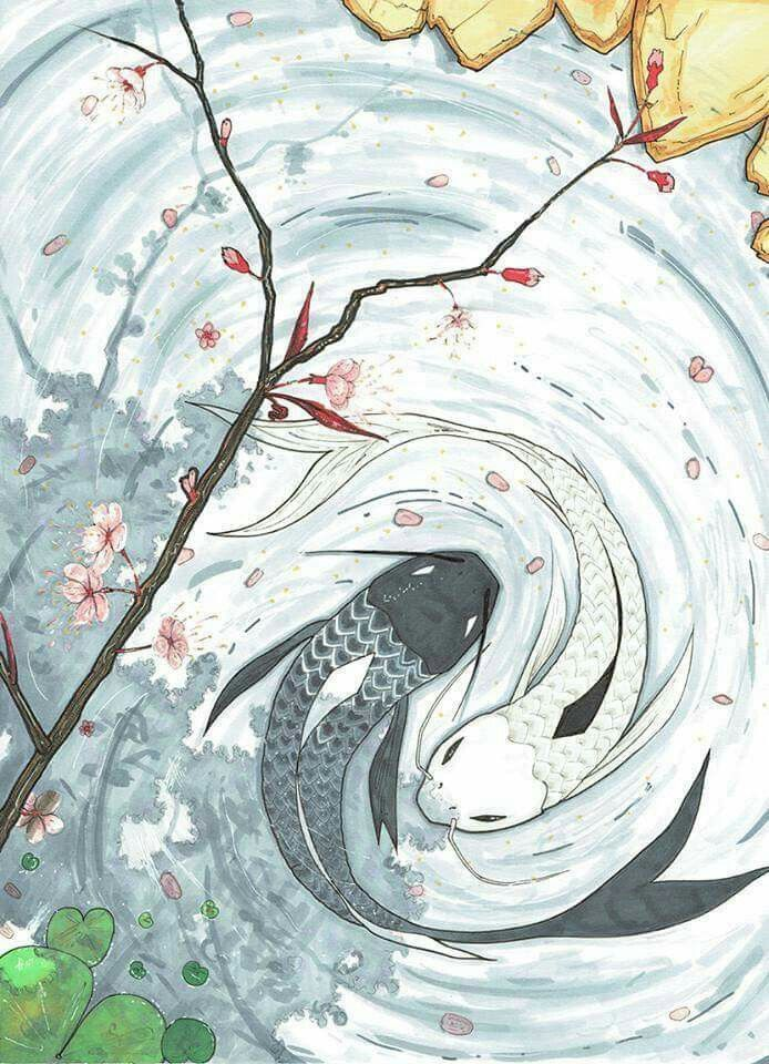 The moon and the sea | avatar | Pinterest | El avatar, Pez koi y ...