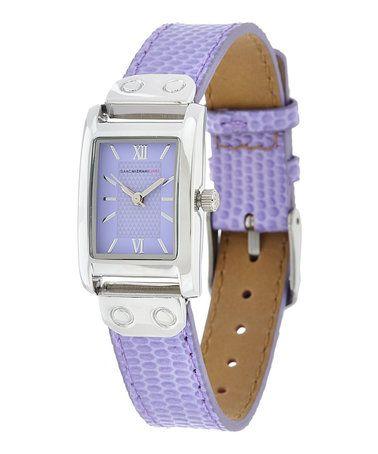 Powder Blue Rectangular LeatherStrap Watch zulilyfinds