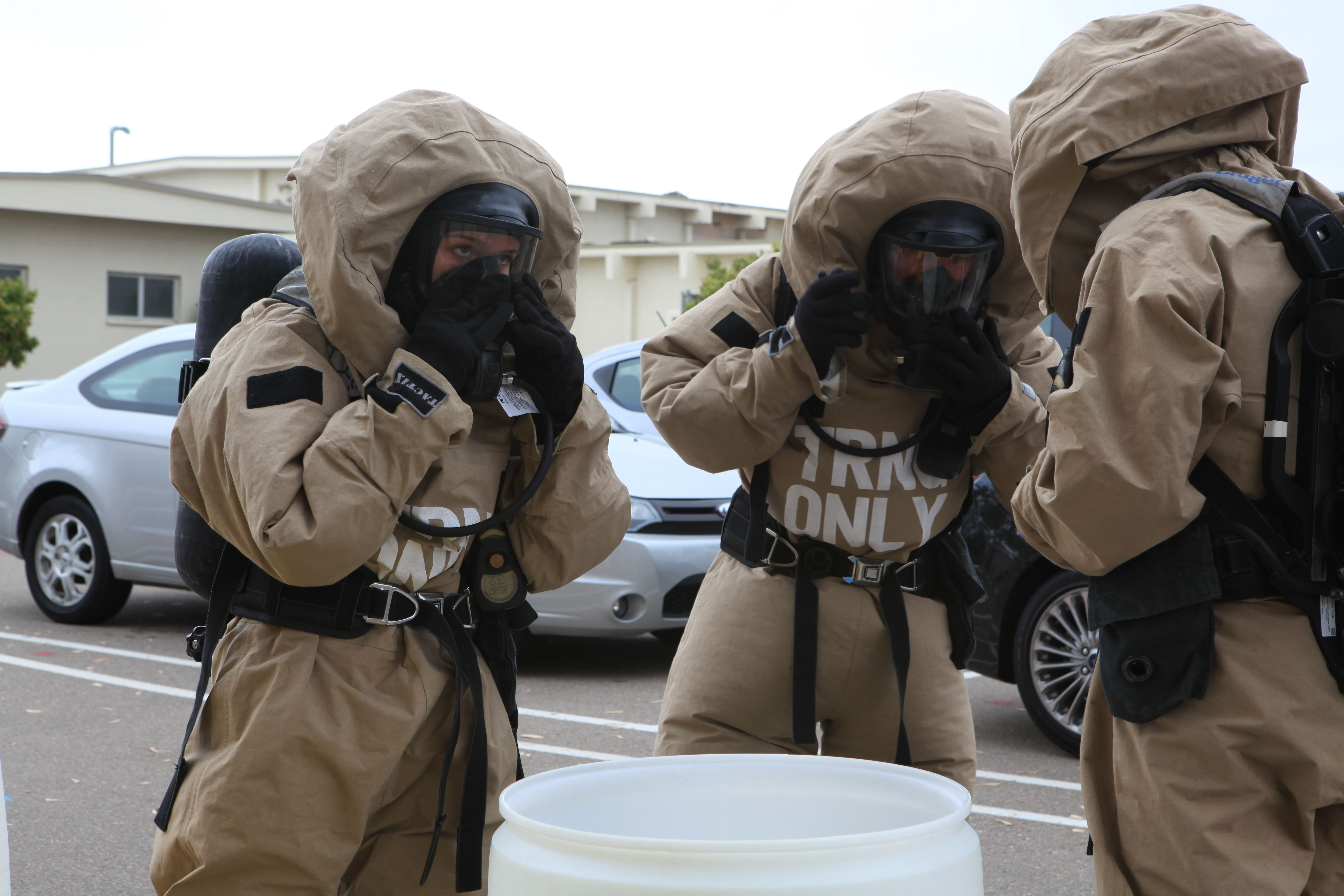 U s marine corps chemical biological radiological and nuclear cbrn defense specialists with - Military wingsuit ...