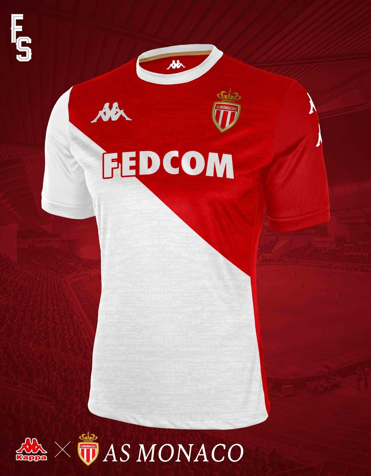 Kappa AS Monaco 19-20 Home   Away Concept Kits - Footy Headlines ... fa989638f7a