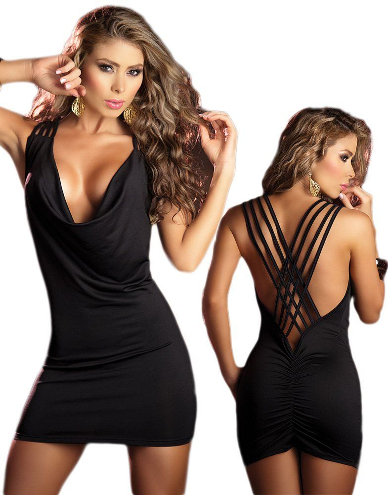 80bc9b060c Woah! The little black party dress... open back