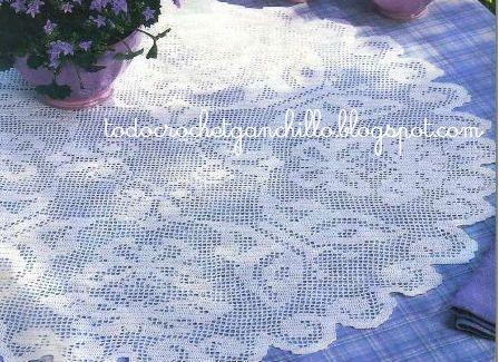 Todo crochet | Pinterest | Mantel, Mariposas y Cortinas