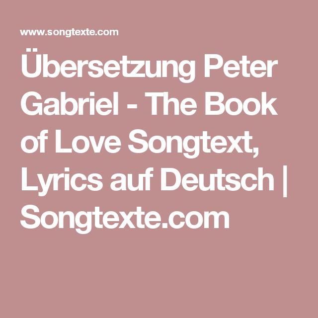 book of love übersetzung