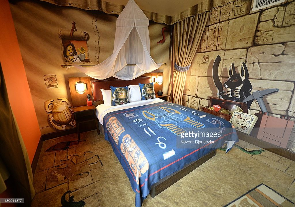 An adventure themed hotel room of North America s first ever Legoland Hotel  at Legoland on September. An adventure themed hotel room of North America s first ever