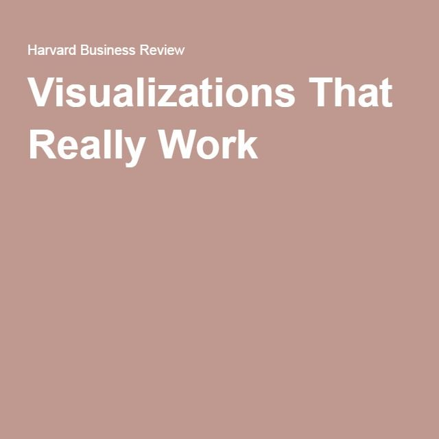 Visualizations That Really Work (With images) | Detox ...