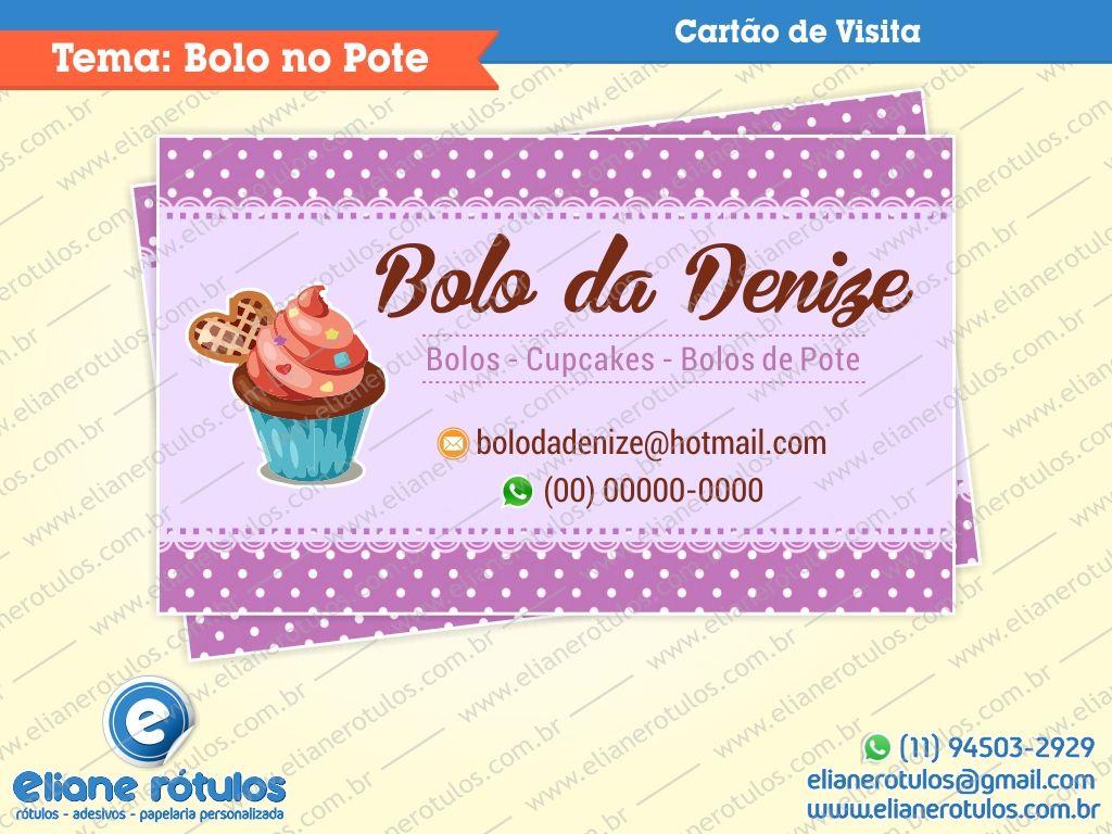 Well-known Resultado de imagem para cartões de visita bolo no pote | Cozinhas  AB97
