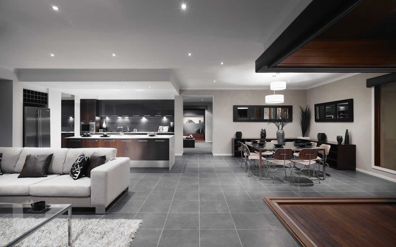 Another great kitchen family dining room from metricon for Interior design living room tiles