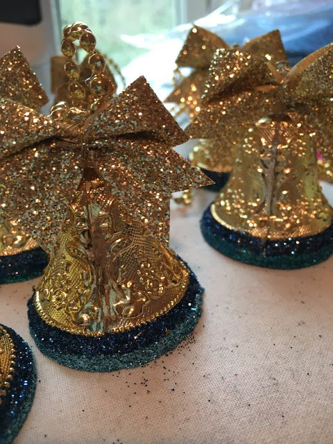 Dollar Store Upgrade/Upcycle...Dance Team Christmas Bell Ornaments....new blog post from The Lily of the Valley Craft Room!