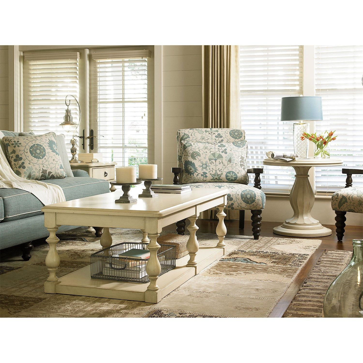 Paula Deen Furniture 393815 River House Round End Table Living