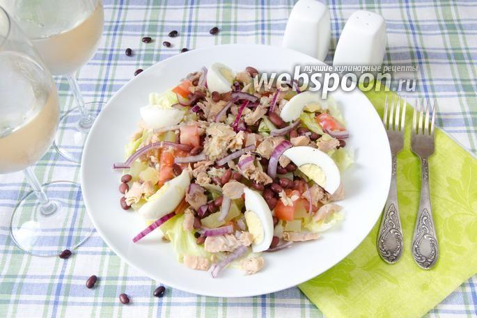 Салат с красной фасолью и горбушей | Рецепт в 2020 г ...