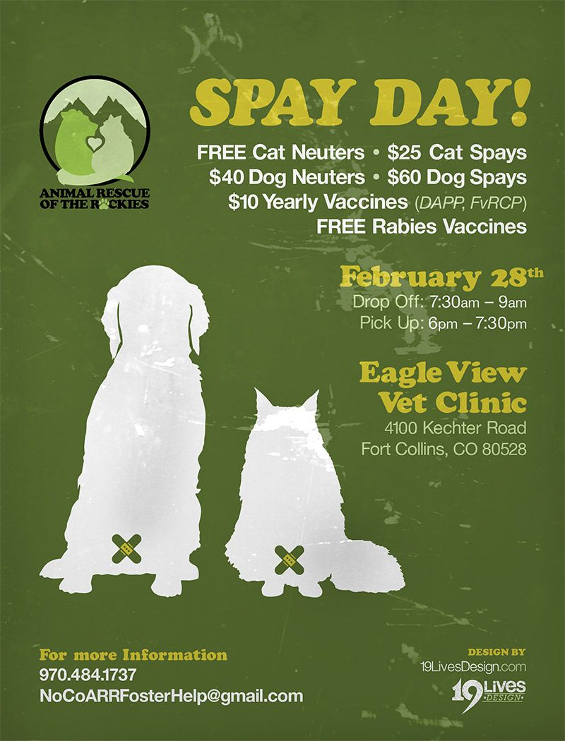 Animal Rescue of the Rockies Spay Day flyer for print