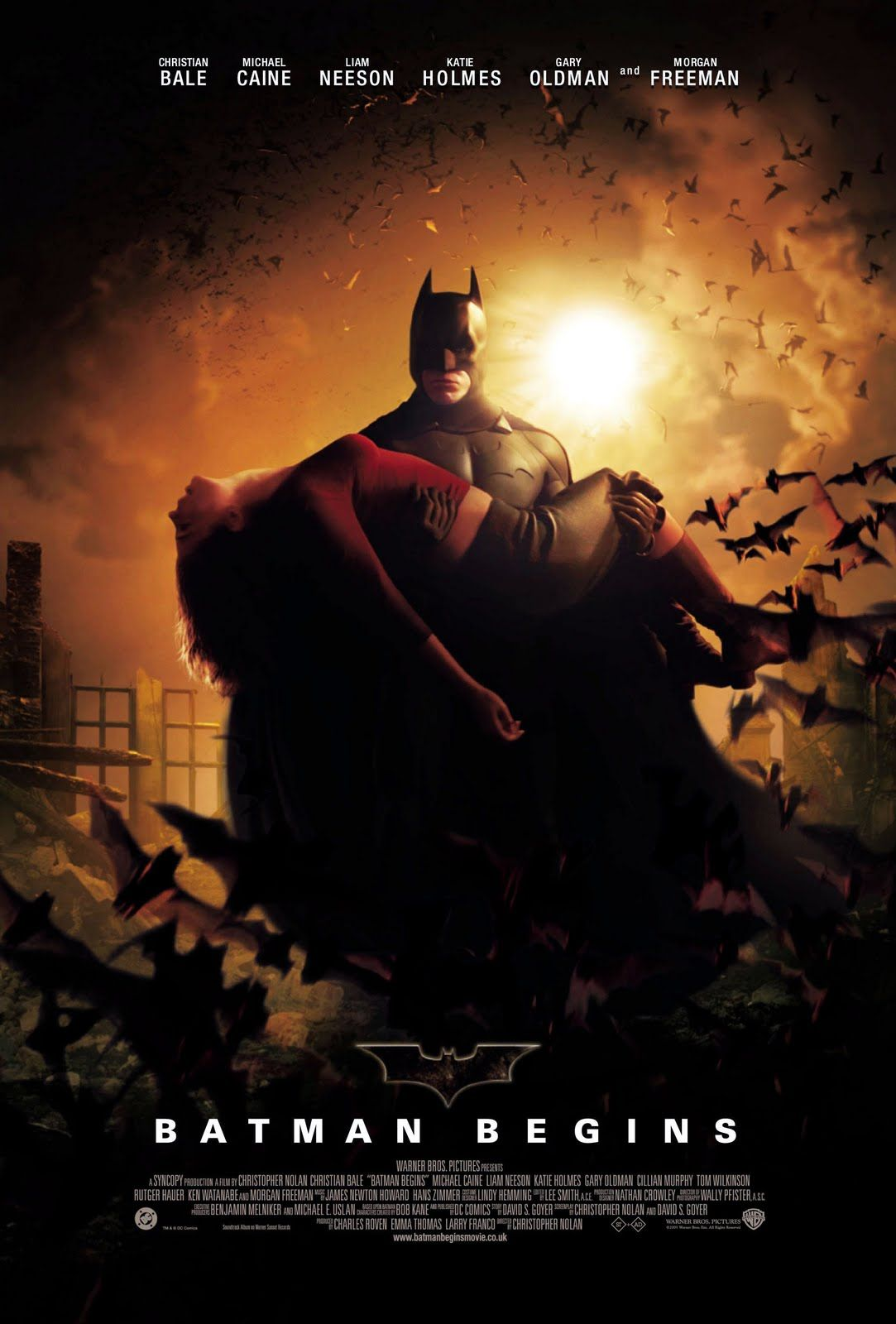 Batman Begins (2005) Hindi Multi Audio BluRay 720P ESubs