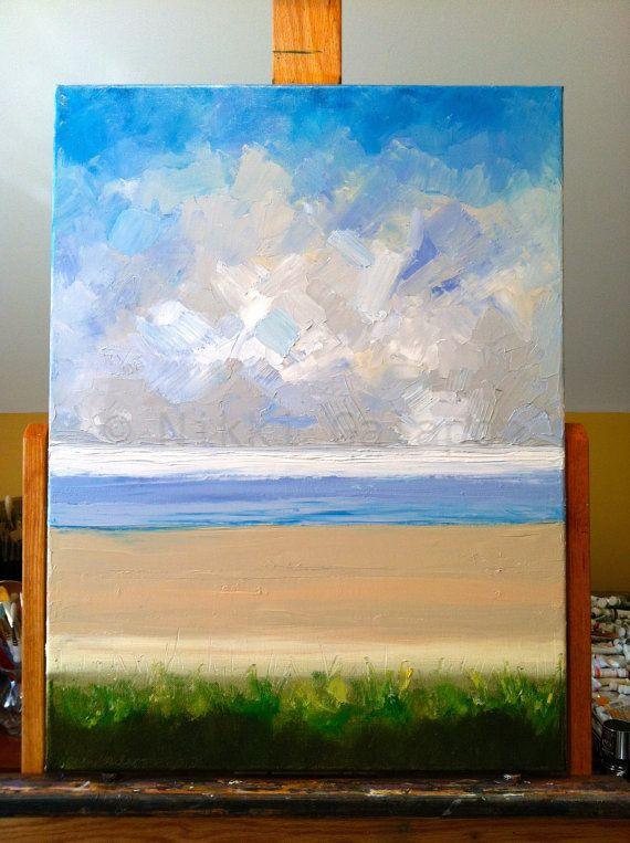 Beach Original Oil Painting On Canvas 18x24 By Nikkigalapon 325 00 Schilderij Schilder Doe Het Zelf