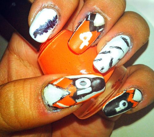 Haikyuu Inspired Nails This Comes After The Attempted Yuri On Ice Fail Manicures Designs Nails Nail Blog