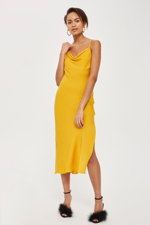 7fbc925dda9dc Cowl Satin Midi Slip Dress | Affordable Chic | Dresses, Satin ...