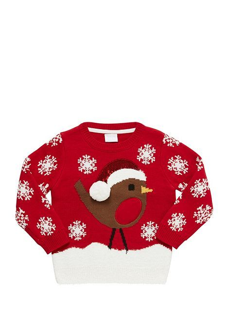 Tesco direct: F&F Robin Light-Up Christmas Jumper | new year ...