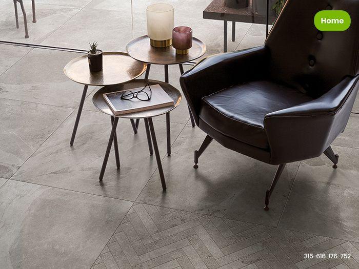 Grijze Tegels Woonkamer : Inspiratie moderne woonkamer met grijze natuursteenlook tegels