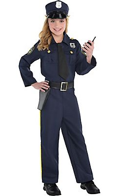 girls classic police officer costume halloween - Girls Cop Halloween Costume