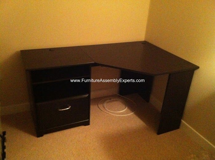 Overstock Bush Furniture L Shaped Desk Assembled In Temple Hills Md By Furniture Assembly