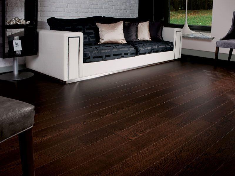 Oak wood floor engineered varnished SIGNATURE OAK DARK